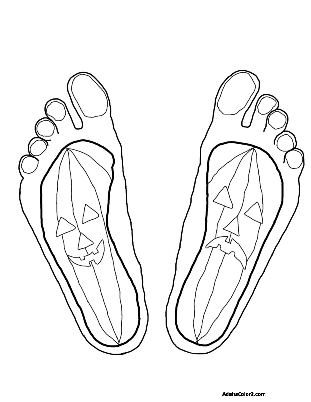 Jack o' Lantern feet.