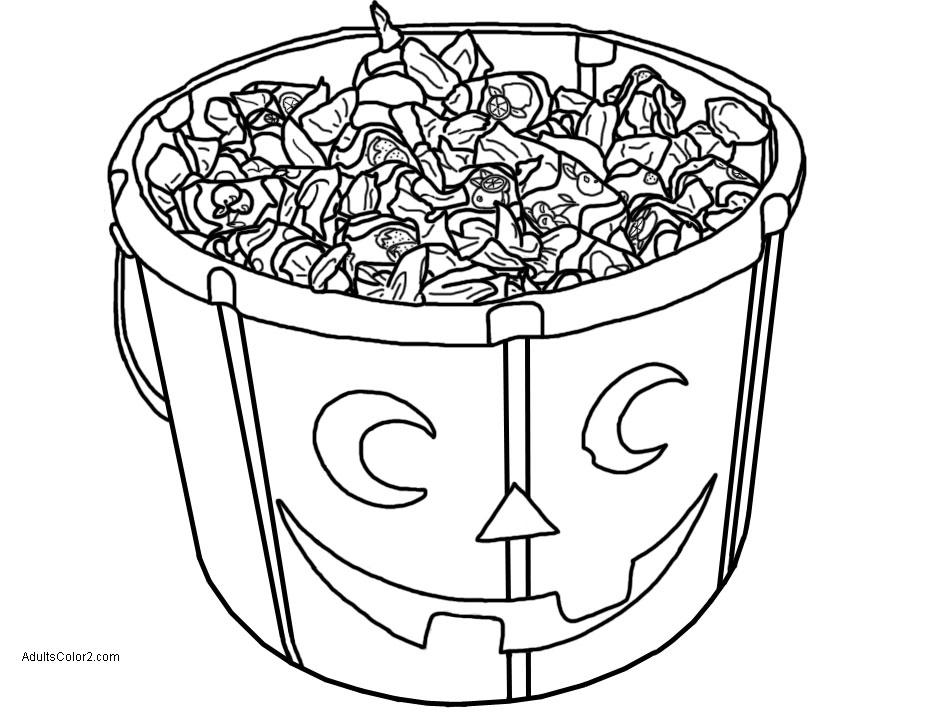 Jack o' Lantern candy bucket