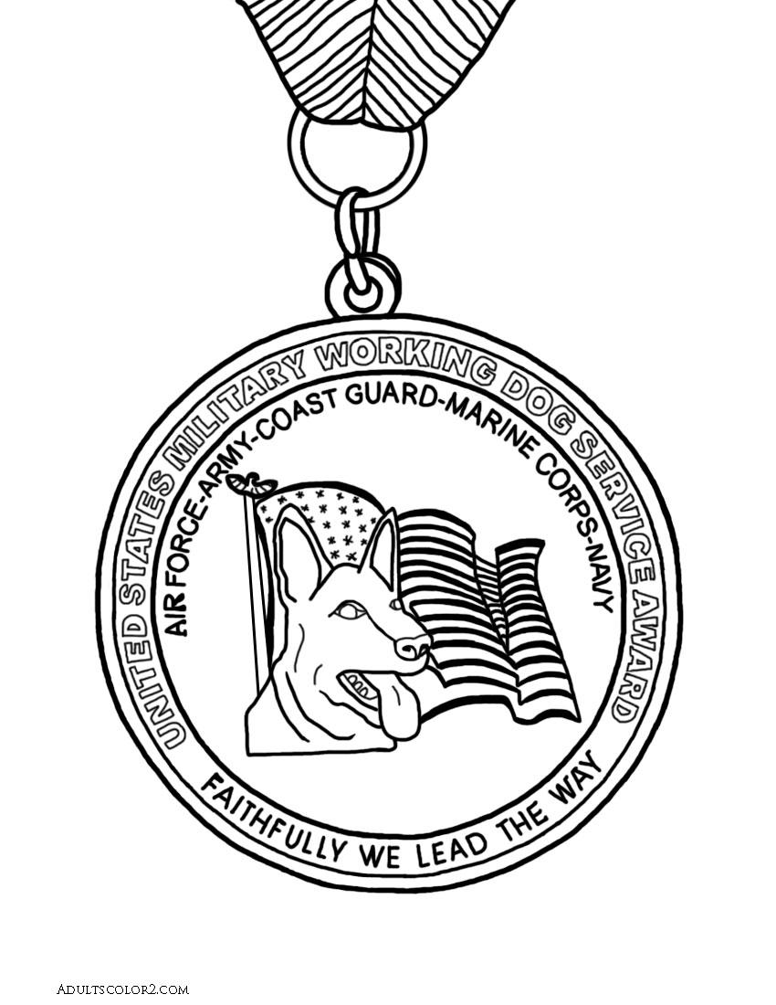 War Dog Medal