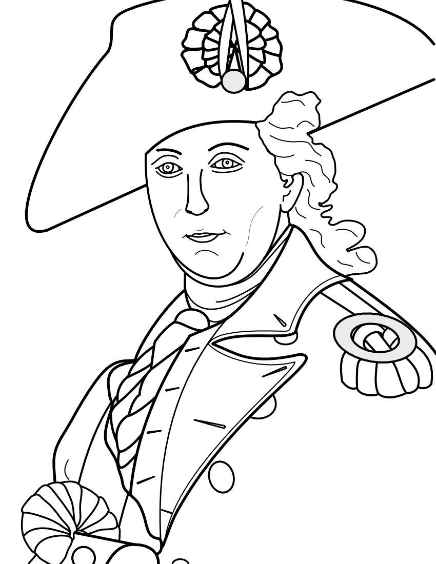 George Washington coloring page.