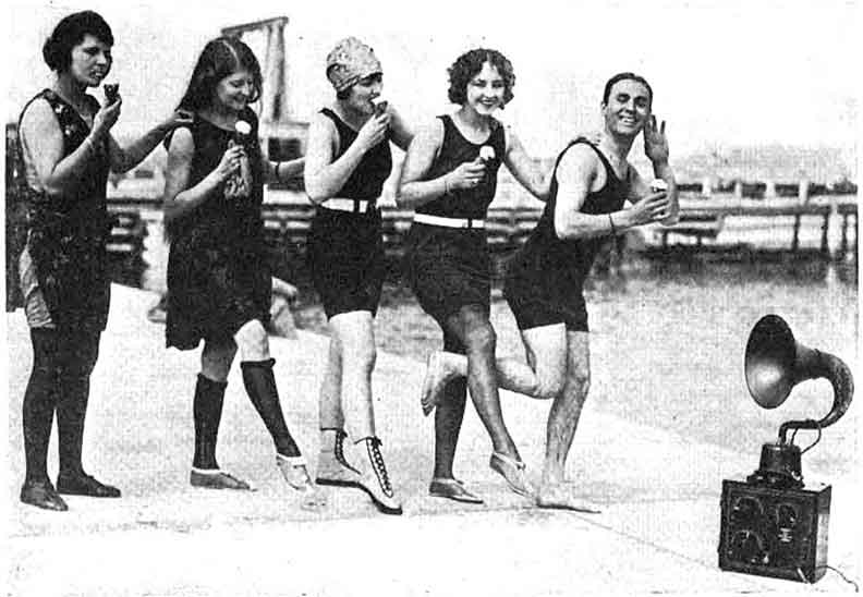Wild beach party with the cool crowd from 1920's.