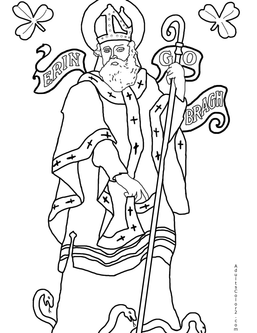 St. Patrick coloring page.