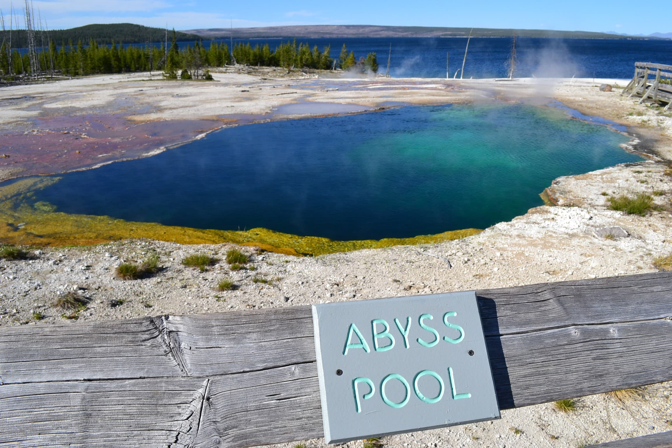 Abyss Pool hot spring Yellowstone Park.