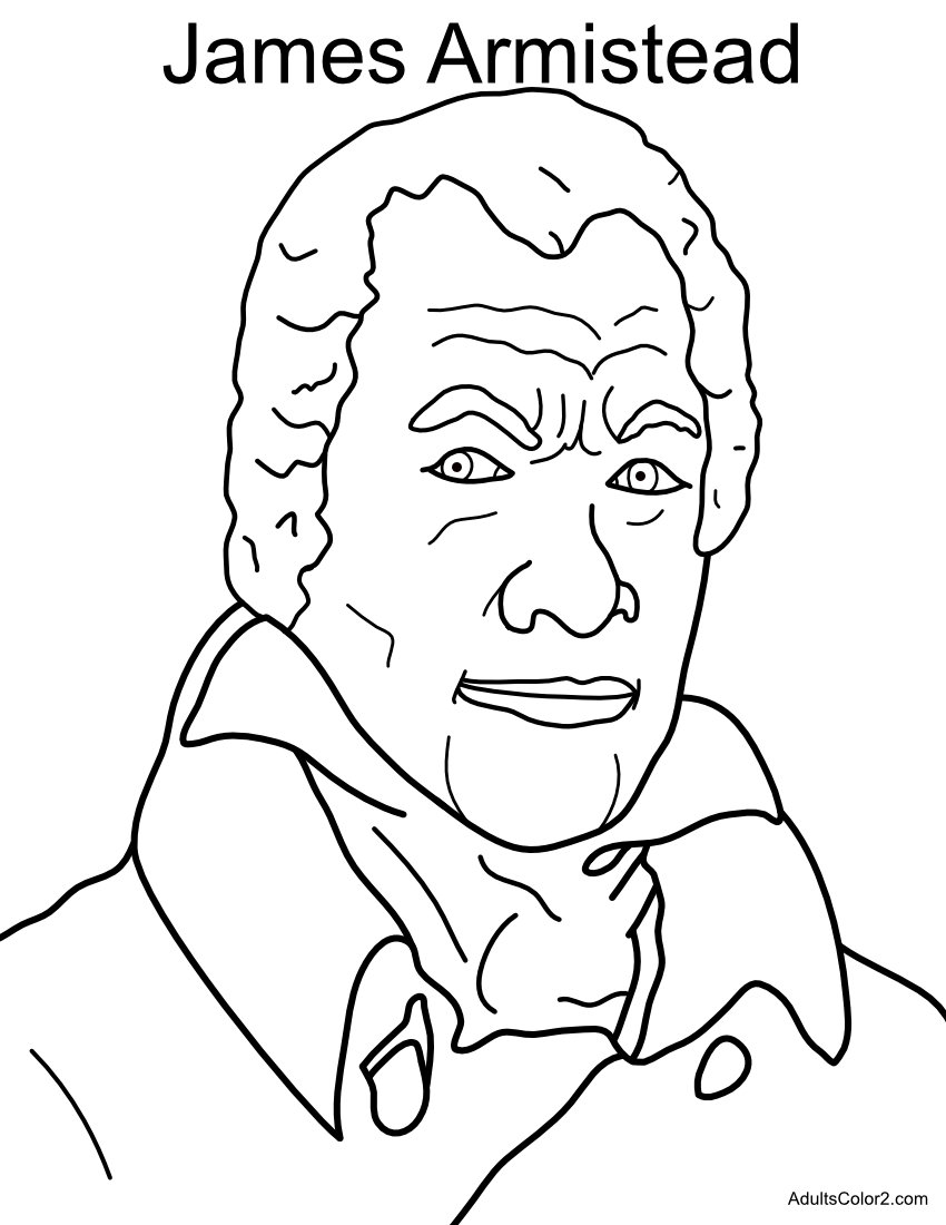 James Armistead Revolutionary War Hero coloring page.