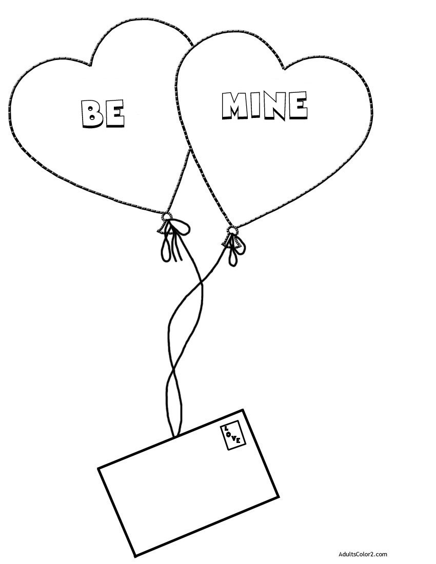 Be mine coloring page.