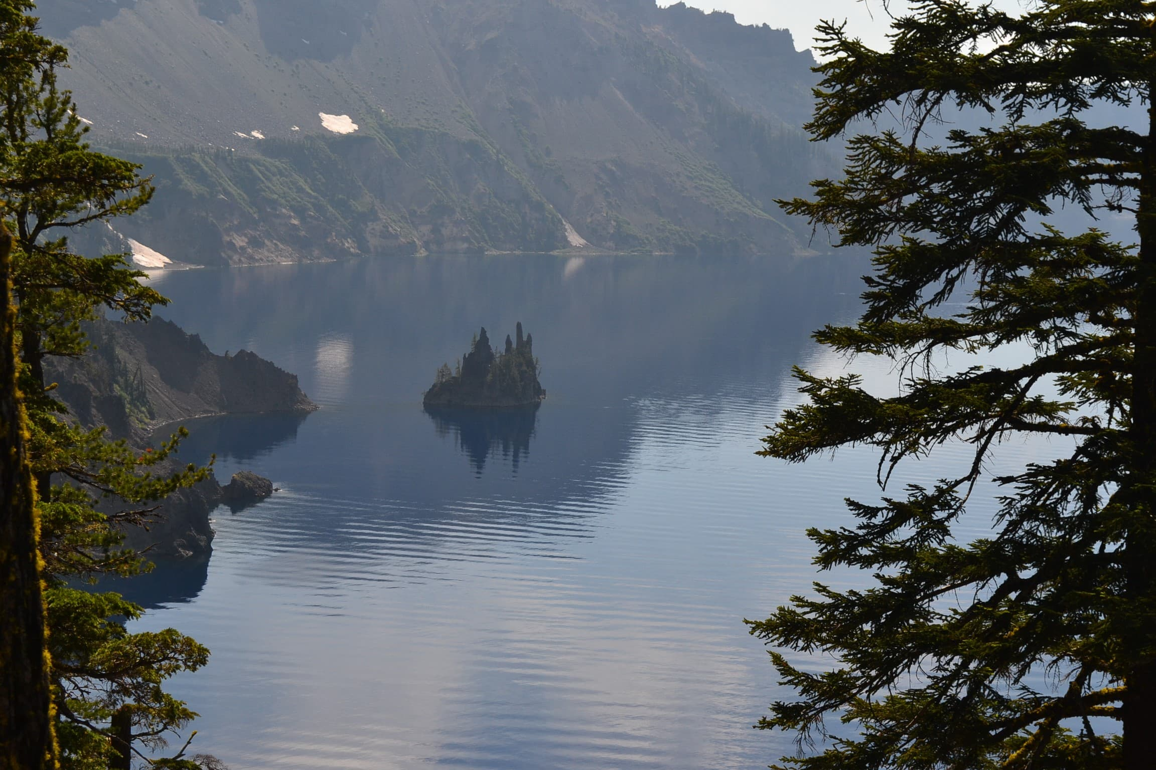 Tiny island in Crater Lake.