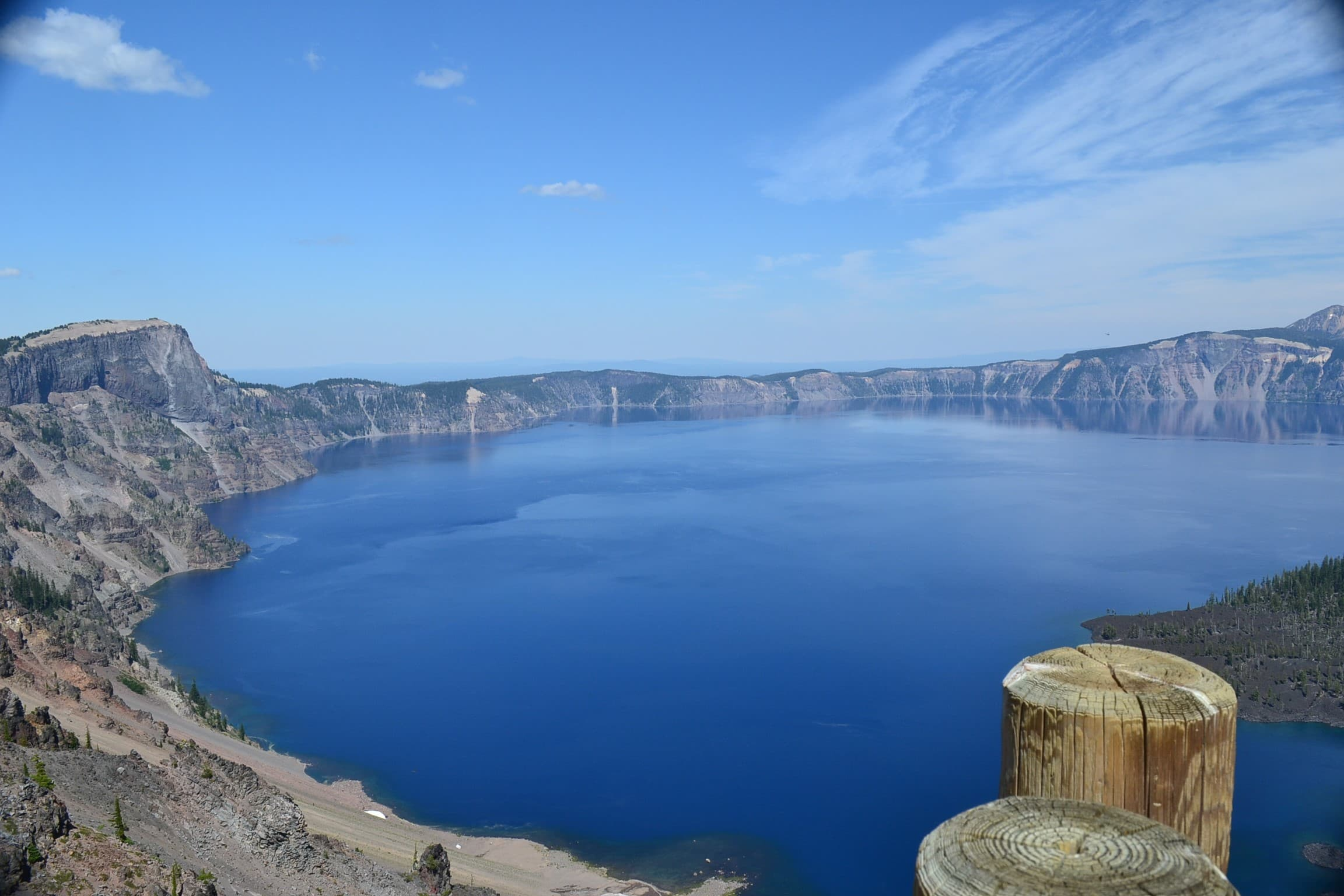 View left side of Crater Lake.