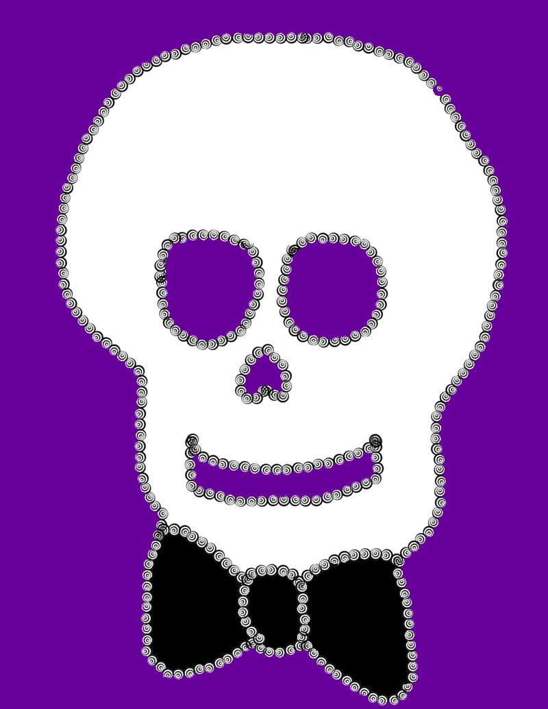 Comical skull.