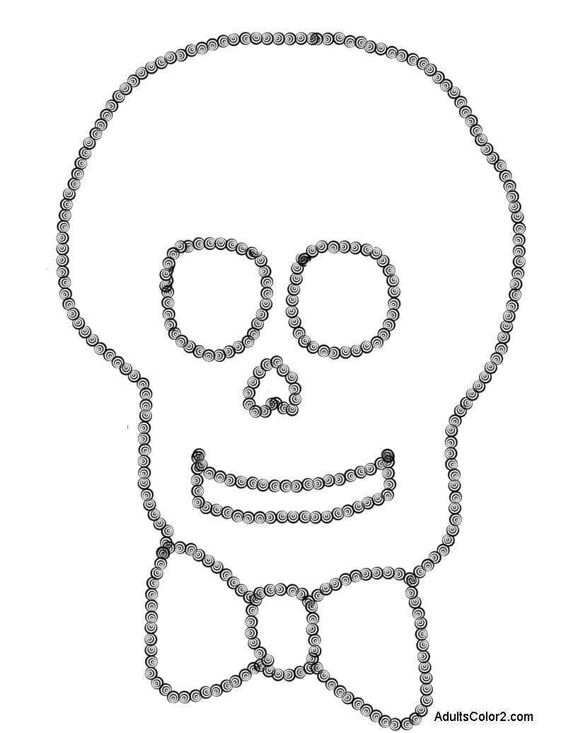Silly skull with bow tie.