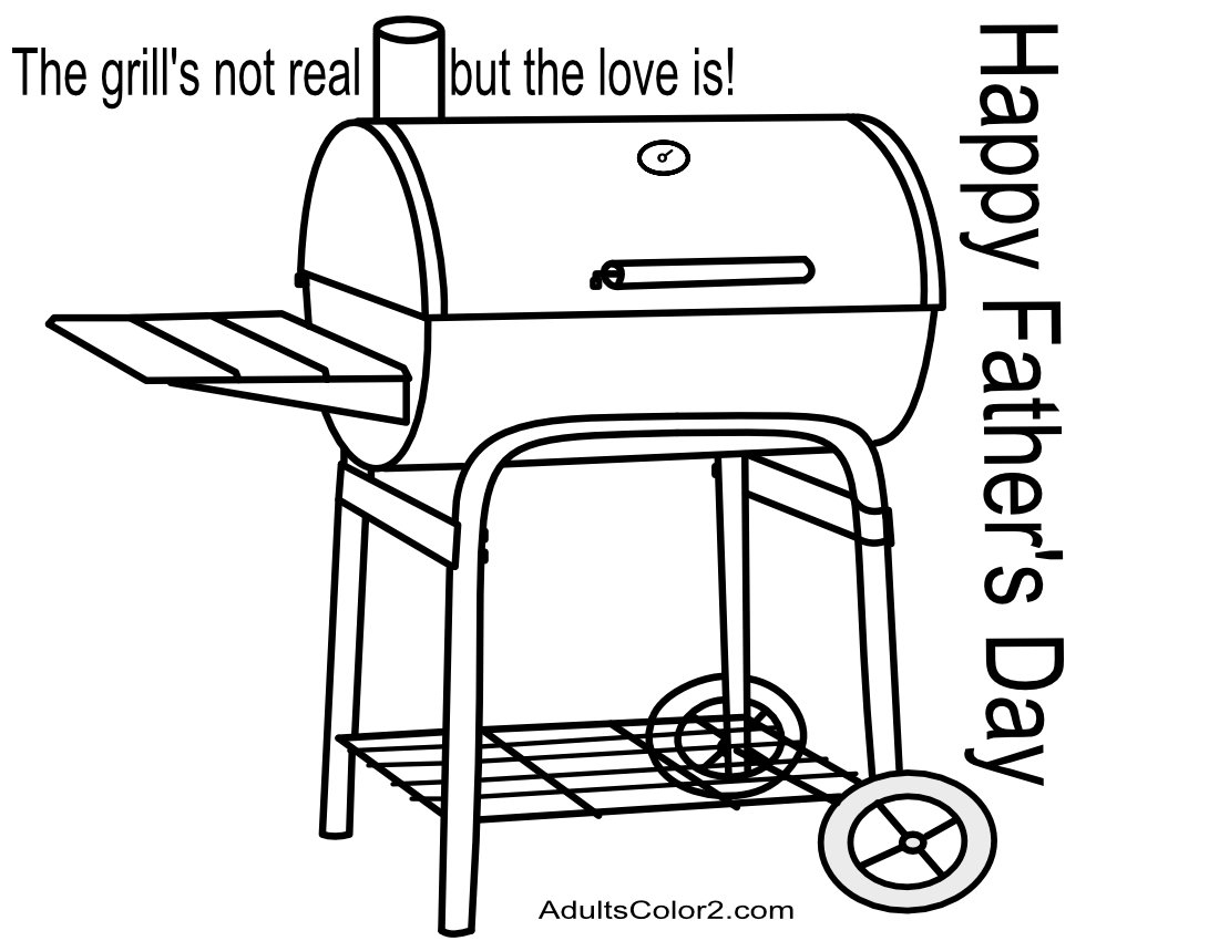 Grill with father's day message.