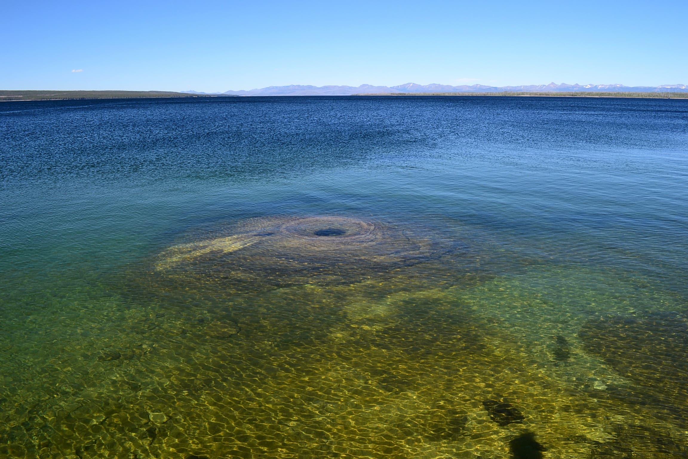 Hot spring in Yellowstone lake.