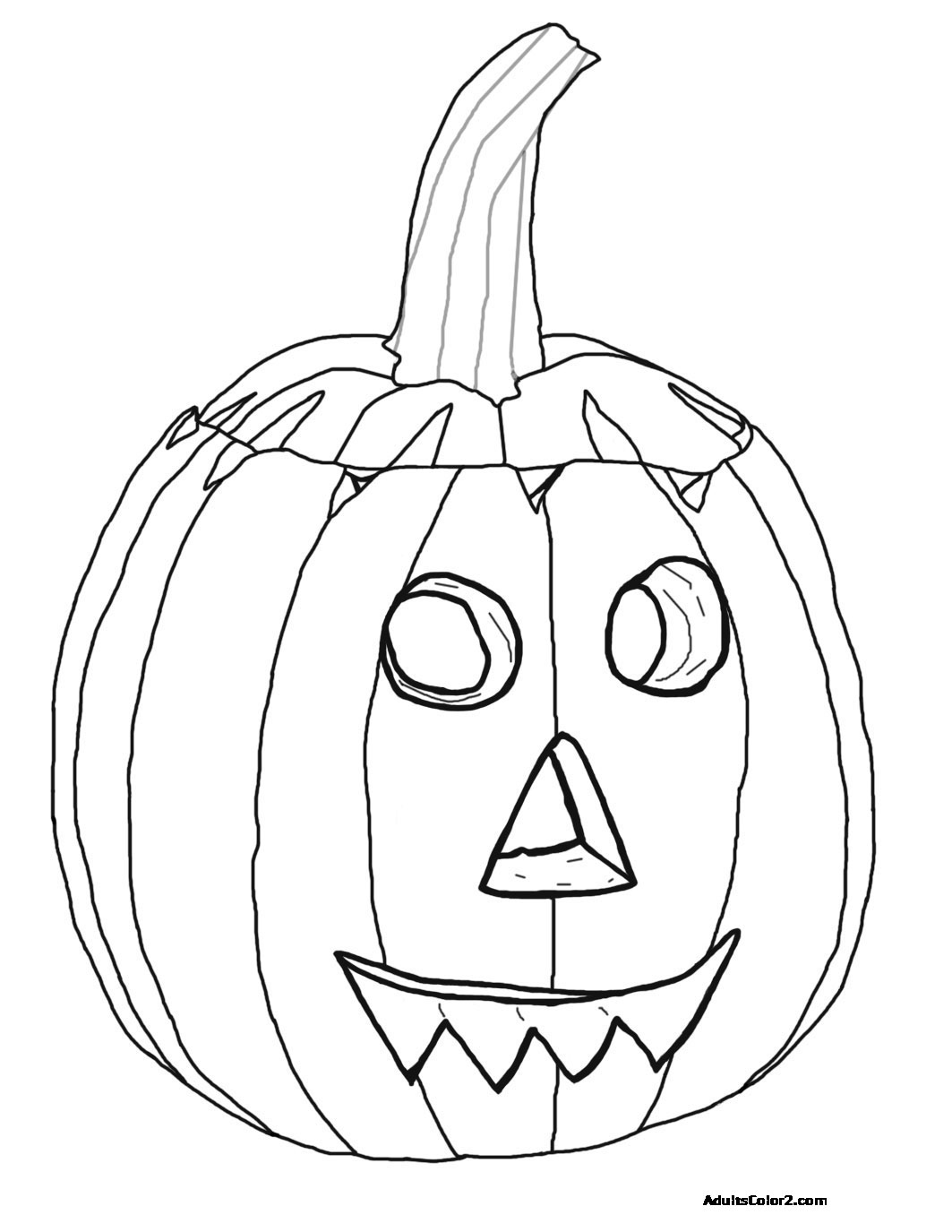 🎨 🎨 Jack Lantern Scary Halloween Free Printable Coloring Pages ... | 1375x1063