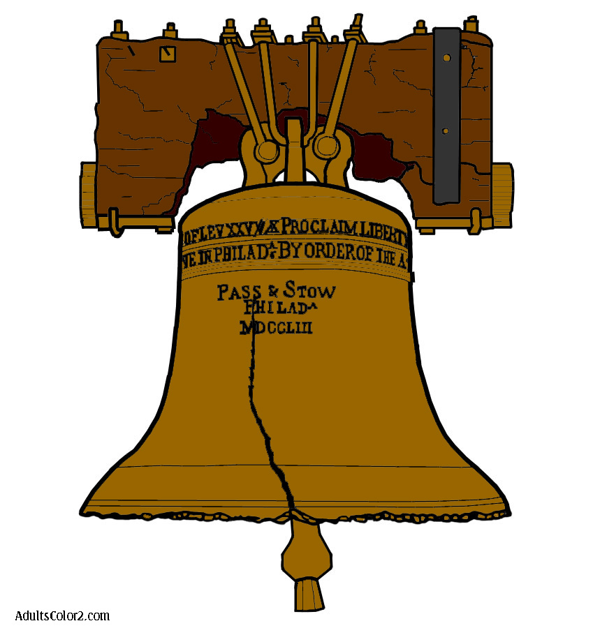 Liberty Bell coloring page.