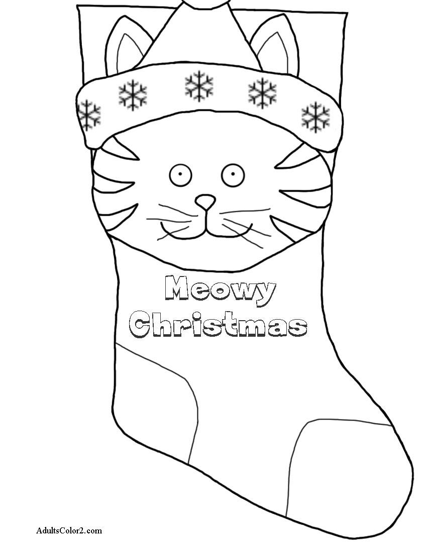 Meowy Christmas stocking.