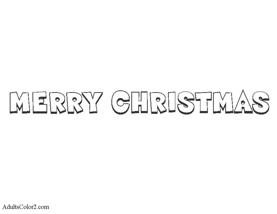 Merry Christmas greeting.