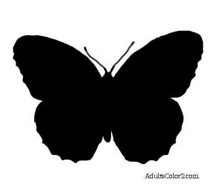 Mexican butterfly silhouette