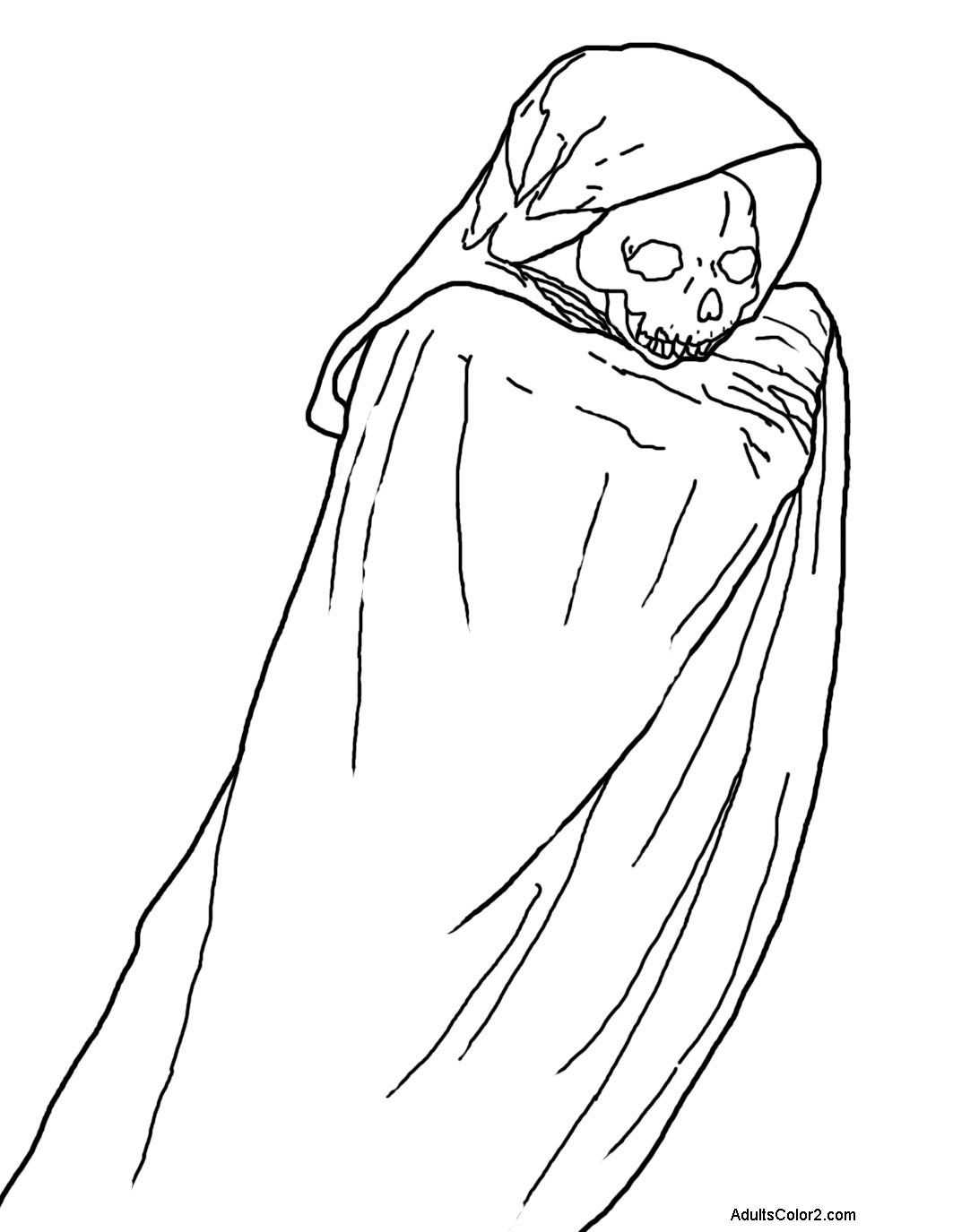 Phantom in a cape.