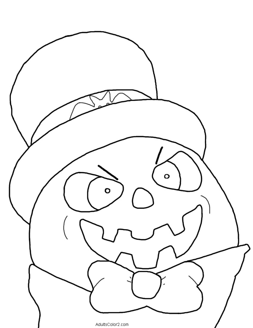 Psychotic-looking pumpkin man.