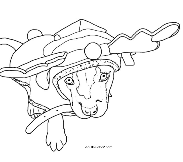 Slinky Dog Coloring Page