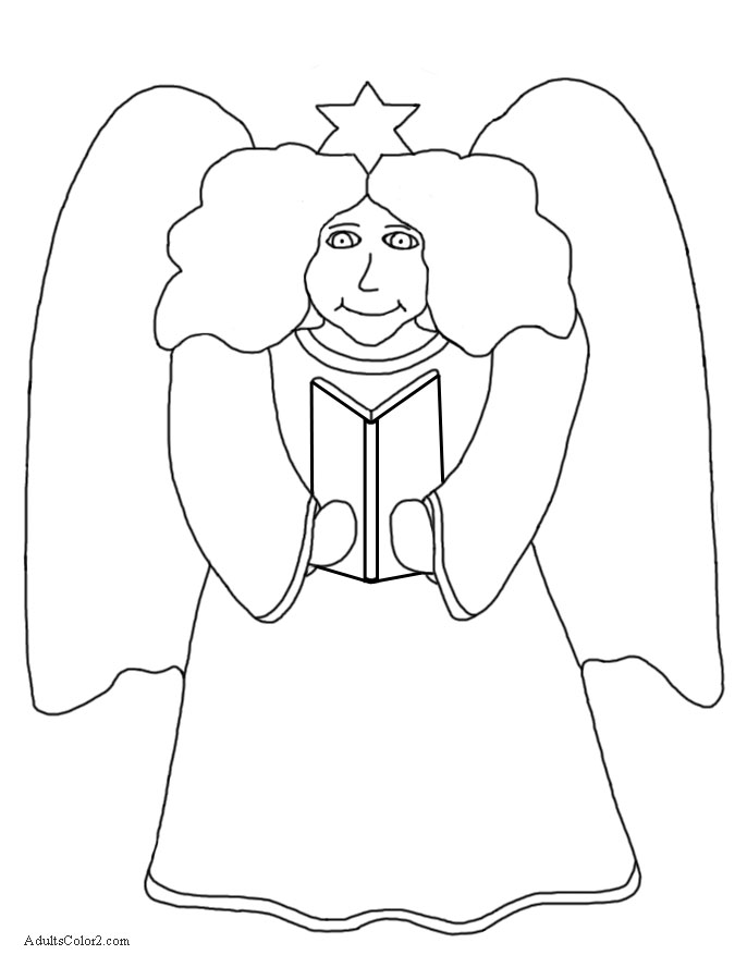 Angle with song book.
