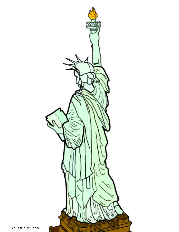 Statue of Liberty from behind.