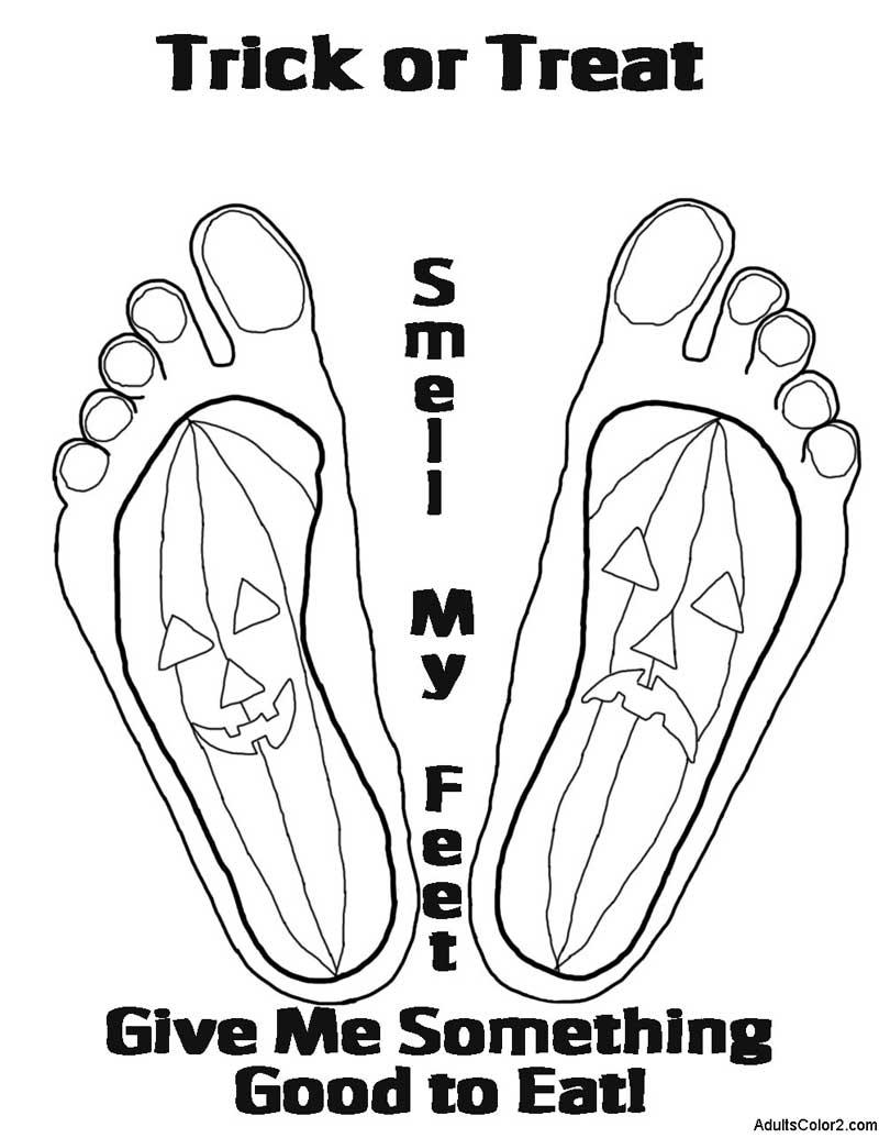 Trick or Treat feet.