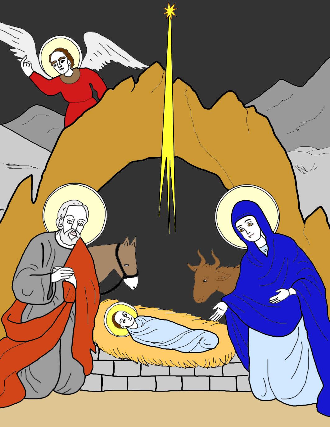 Jesus in the manger.
