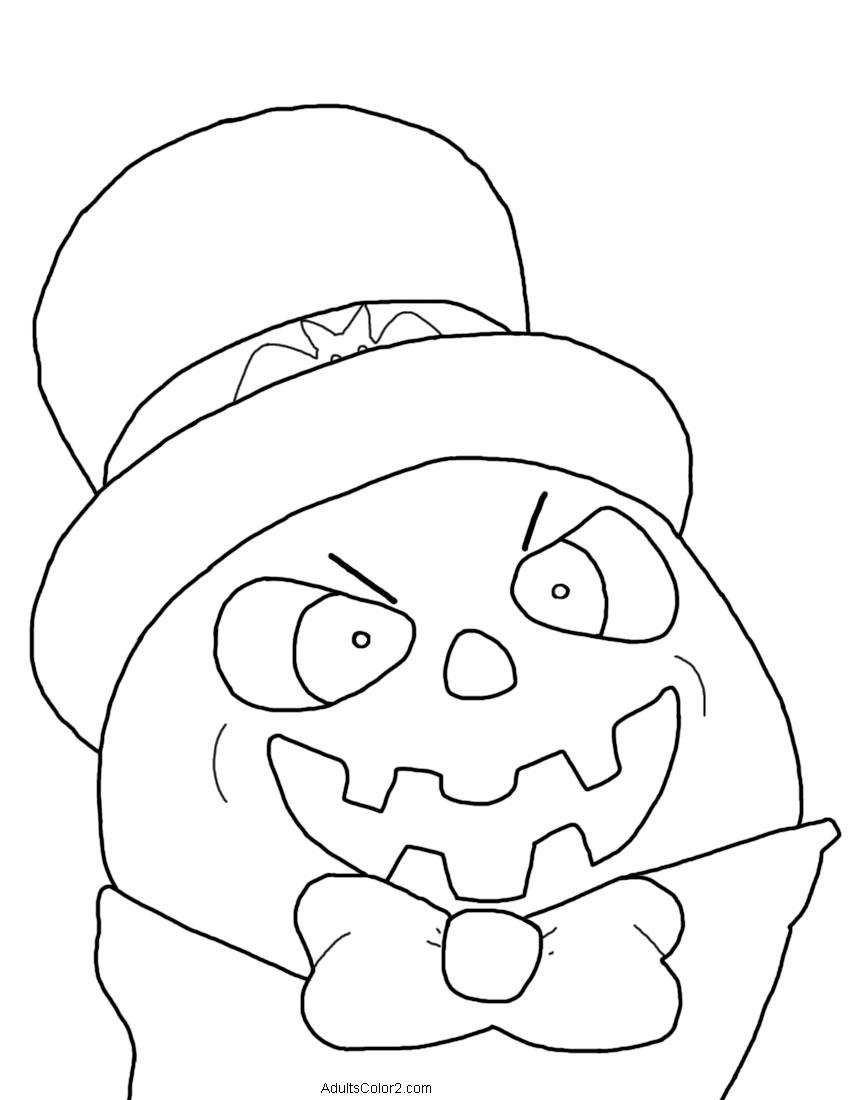 Psychotic-looking pumpkin man.